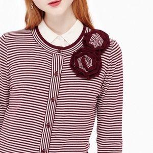 Kate Spade Rosette Striped Cardigan